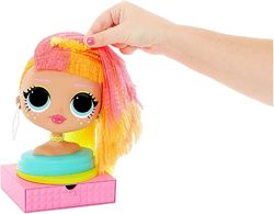 LOL Surprise ОМГ Леди Неон Голова манекен для причесок Styling Head