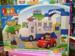5132 конструктор полицейский участок фургон крупные детали