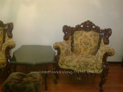 Антикварная мягкая мебель, ручная работа
