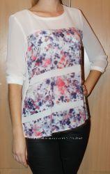 Легкая шифоновая блузка S. Oliver размер М