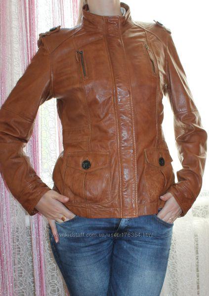 Фирменная кожаная куртка s. oliver на размер М-Л