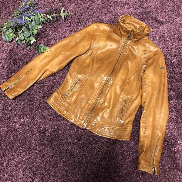 Стильная кожаная куртка немецкого бренда g3000 collection authentic размер