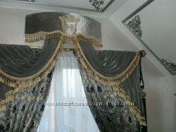 Дизайн штор, а также вышивка на текстиле.
