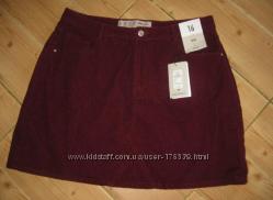 Стильная фирменная вельветовая юбка Denim Co