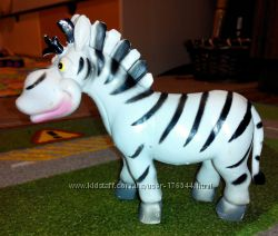 Игровая фигурка лошадь зебра длина 15 см. и белка Скрат