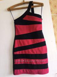 Стрейчевое платье Asos по фигуре, облегающее, мини, р. 36-38 S, очень секси