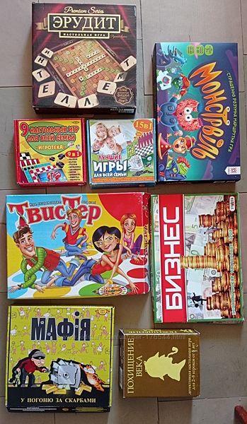 Настольные игры Токо Моко, уно, бизнес, квест, Монстрвиль, похищение