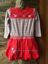 Трикотажное платье CHICCO девочке, р 86.