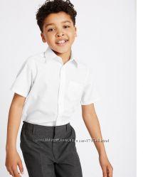 Белые рубашки M&S 11-12 PLUS Boys Ultimate Non-Iron Shirts