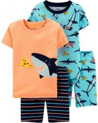 Хлопковые пижамы для мальчиков Carters летние