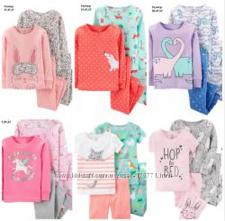 Хлопковые пижамы для девочек Carters