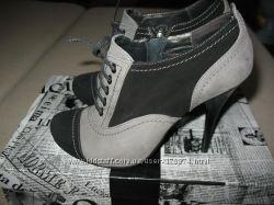 Luciano Carvari женские ботиночки туфли ботильоны 36 каблуки ботинки