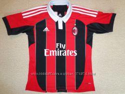 Детская игровая фанатская клубная футболка Adidas футбольный клуб ACM Milan