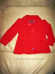 Next красно-бордовое пальтишко для девочки 12-18 мес