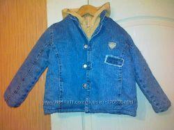 Продам демис. джинс. куртку б. у. на 92см-90грн