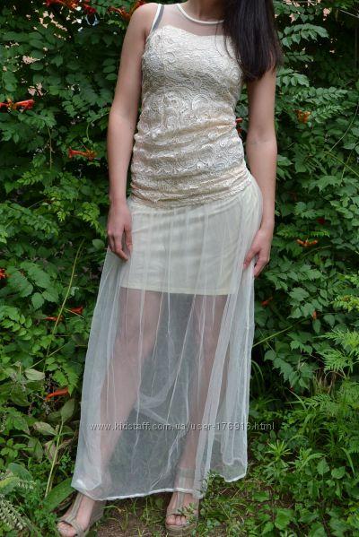 Костюм вечерний юбка с блузой