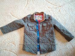 Стёганая утеплённая рубашка-куртка M&S на мальчика рост 104