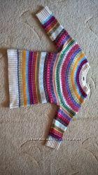Тёплая и стильная шерстяная кофта GAP на девочку размер М 128 -134