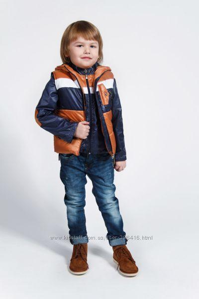 Деми комплект для мальчика куртка и жилетка