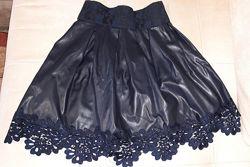 Модная нарядная юбка с кружевом