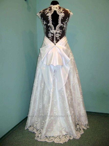 Кружевное платье со шлейфом своими руками