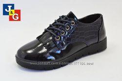 Готовимся к школе закрытые туфельки ТМ J&G размер 30-37