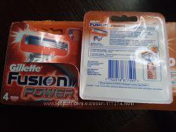Gillette Fusion и Fusion Power, упаковка 4 шт.
