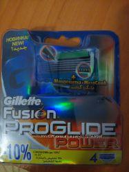 Gillette Fusion Proglide Power 4 шт