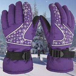 Женские и подростковые зимние перчатки, лыжные, горнолыжные