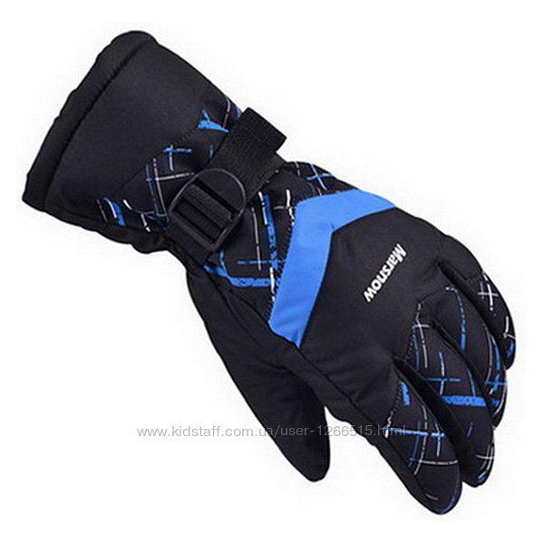 Мужские, женские, подростковые зимние лыжные перчатки рукавички Marsnow 3цв