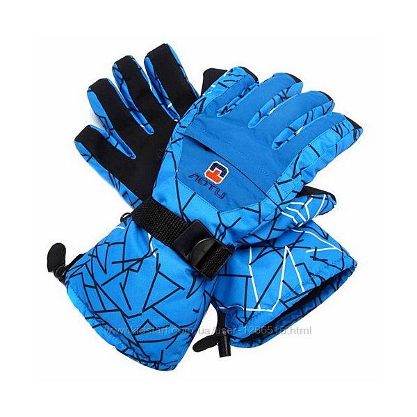 Мужские зимние перчатки рукавички, лыжные, горнолыжные, с кармашком