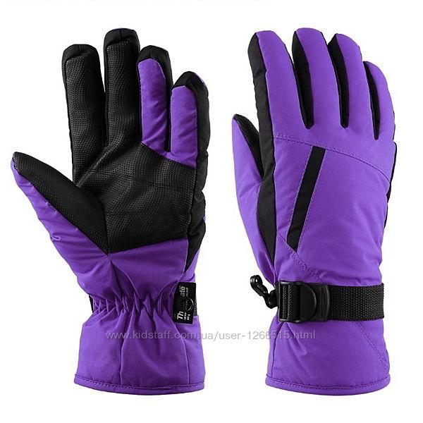 Женские и подростковые зимние перчатки рукавички, лыжные, горнолыжные