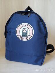 Небольшой женский рюкзак stay pawsitive синий
