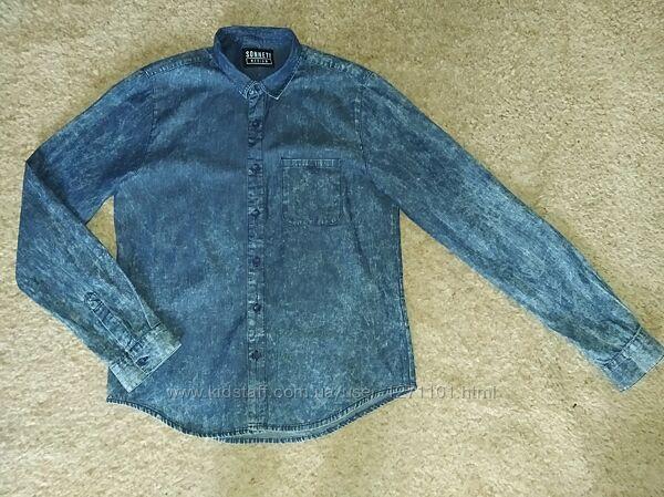 Сорочка джинсова тоненька роз. М