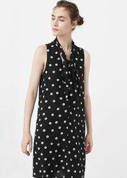 Платье в горошек стильное платье -от mango вискоза хит сезона платье в го