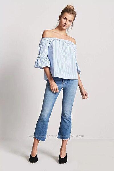 Манго блуза в полоску коттон качество от mango