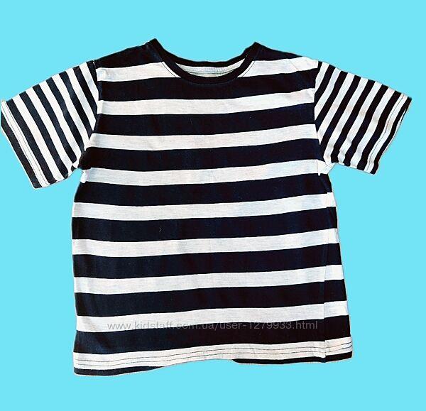 Красивая полосатая футболка на мальчика 7-8л. Идеал