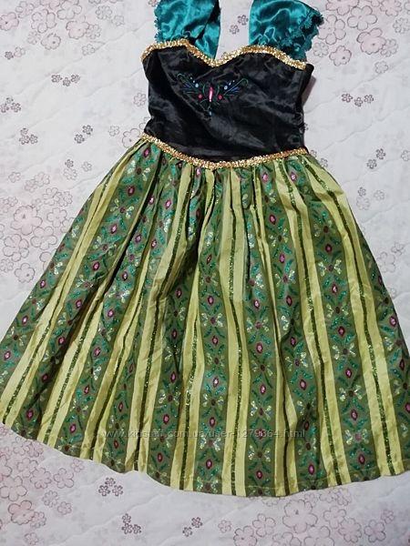Карнавальное платье Анны на 8-9лет