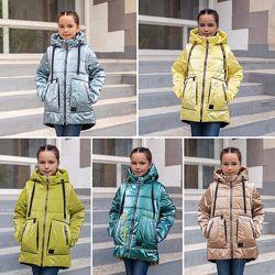 Куртка жилет демисезонная для девочки верис 122-146р. , 38