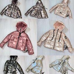 Куртка деми для девочки - подростка оверсайз кожа 134-158р. , 38