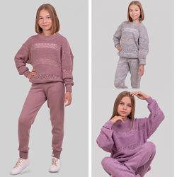 Стильный вязаный костюм для девочки аврора 134-152р. , 7