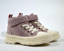Ботинки 26-30р clibee арт. 700, sneakers, розовый 42