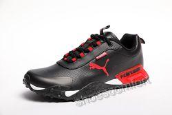 Мужские кроссовки Puma H. ST.20 Black / Red черные с красным
