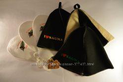 Шапки и рукавицы для бани и сауны