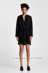 ZARA платье туника из льна