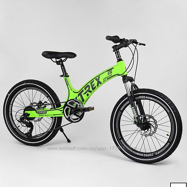 Детский спортивный велосипед 20 corsot-rex 20803 магниевая рама