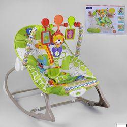 Шезлонг-Качалка 8615 игрушки, музыка, вибрация