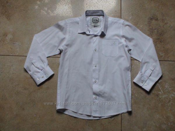 Школьная сорочка Cool clab 6 лет 116р. , бу в отличном состоянии