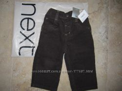 NEXT новые вельветовые брюки, 9-12 мес.