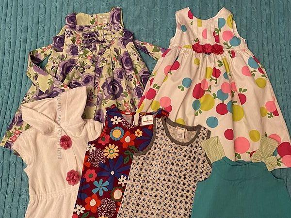 Платья на лето, американские бренды, 4-6 лет, 100  хлопок